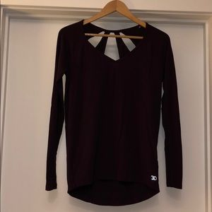 Calia long sleeve top with cut out back